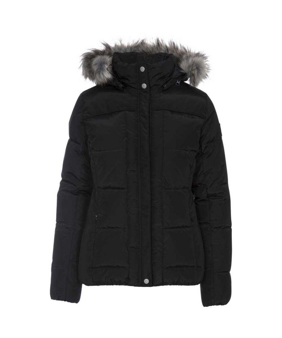 Image for Trespass Womens/ladies Nanette Fur Trim Jacket