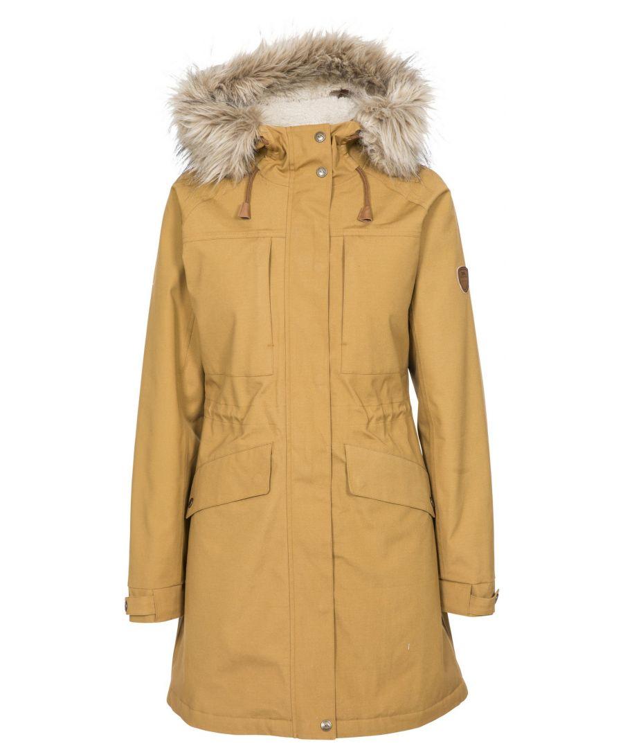 Image for Trespass Womens/Ladies Faithful Waterproof Jacket (Sandstone)