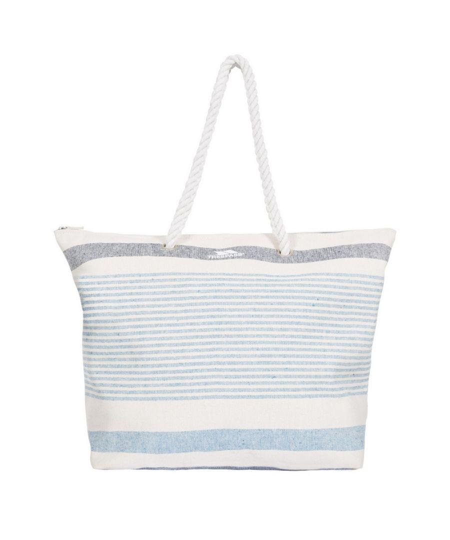 Image for Trespass Womens/Ladies Totba Tote Bag (White/Blue Stripe)
