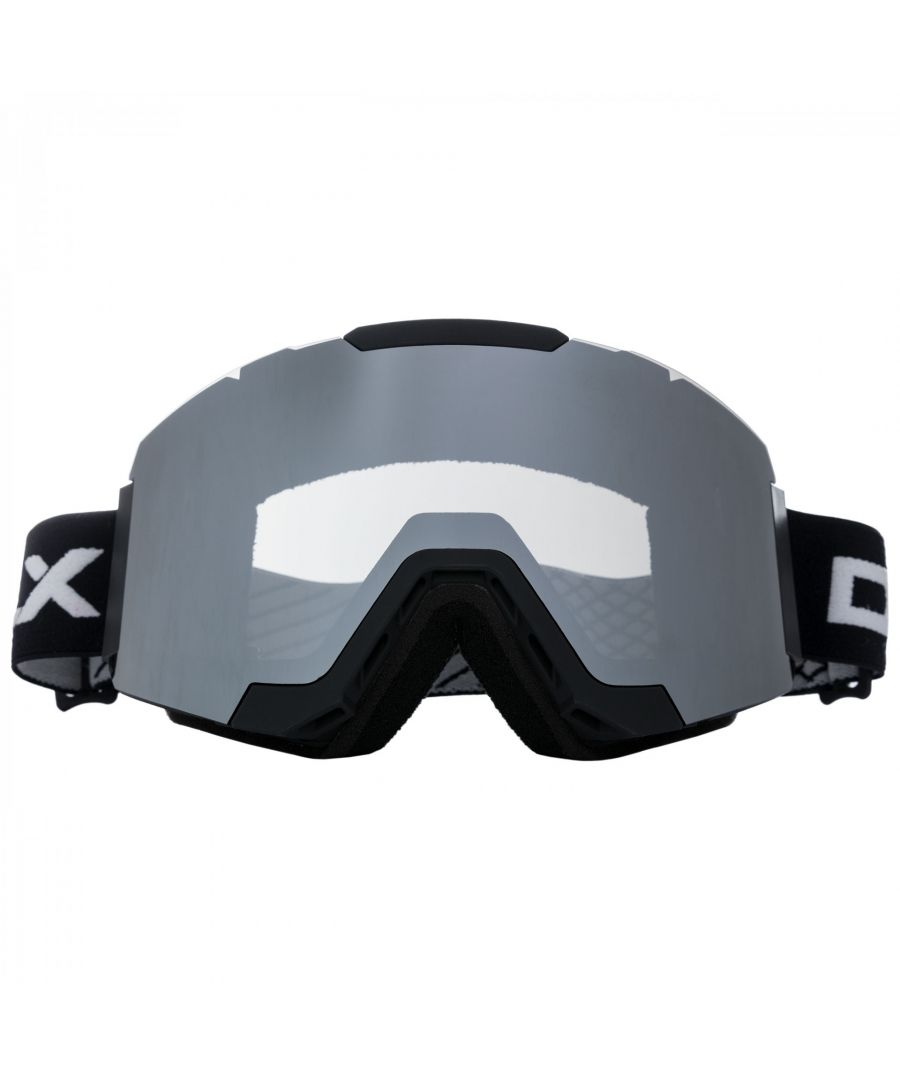 Image for Trespass Unisex Magnetic DLX Changeable Lens Ski Goggles (Black)