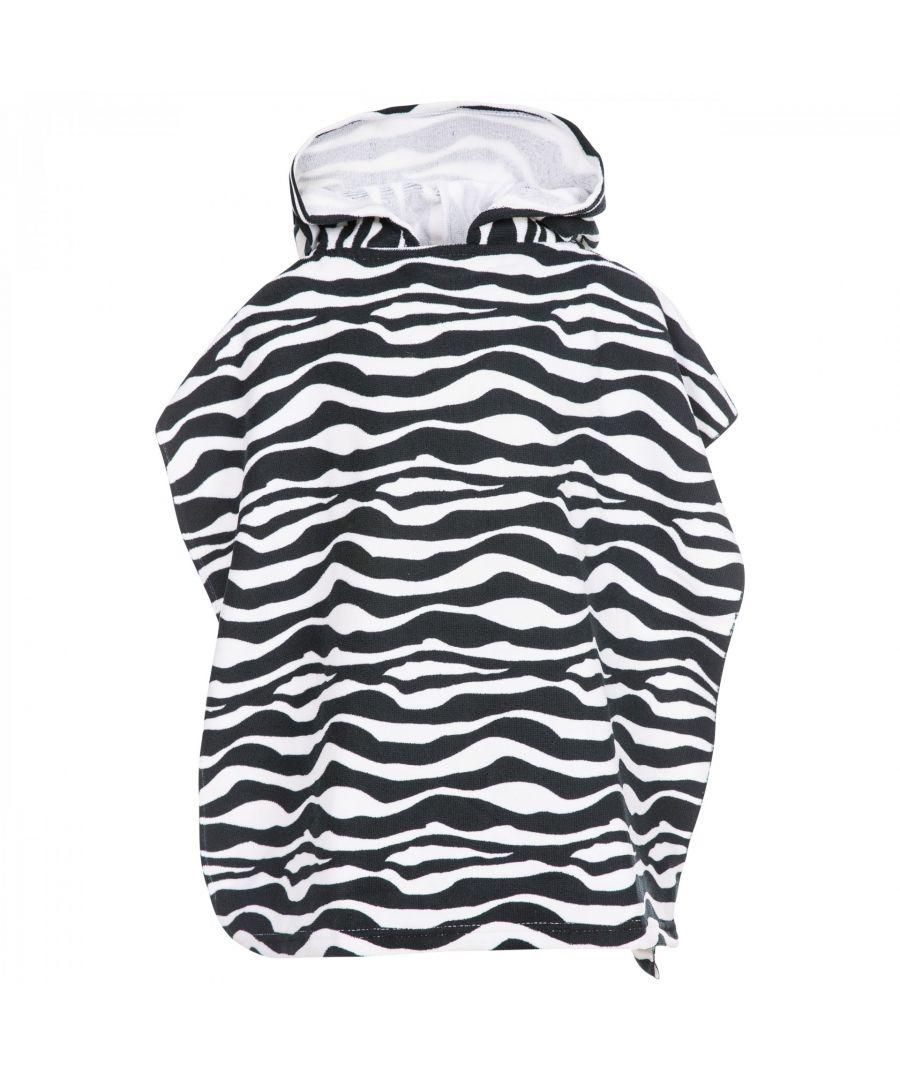 Image for Trespass Childrens/Kids Logan Poncho Towel (Zebra Print)