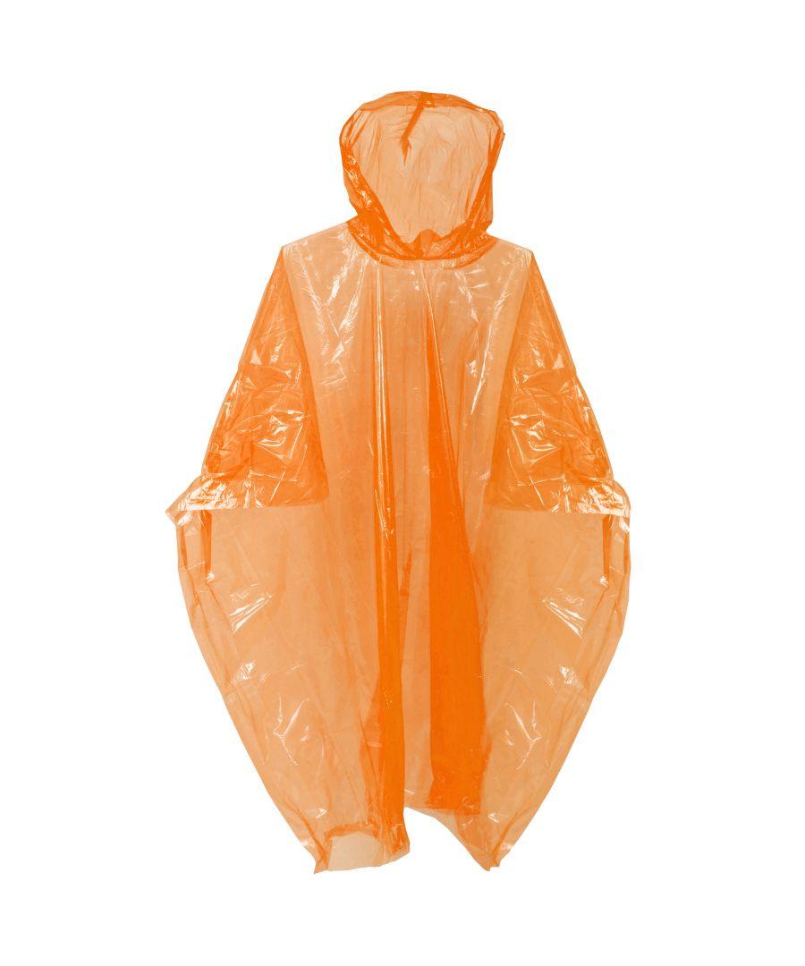 Image for Trespass Drylite Reusable Emergency Poncho (Orange)