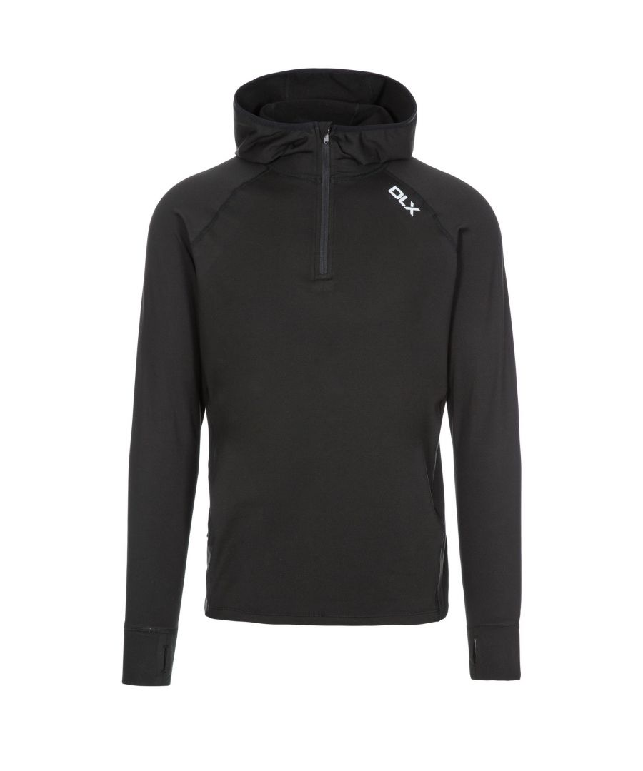 Image for Trespass Mens Robins Hooded 1/2 Zip Top