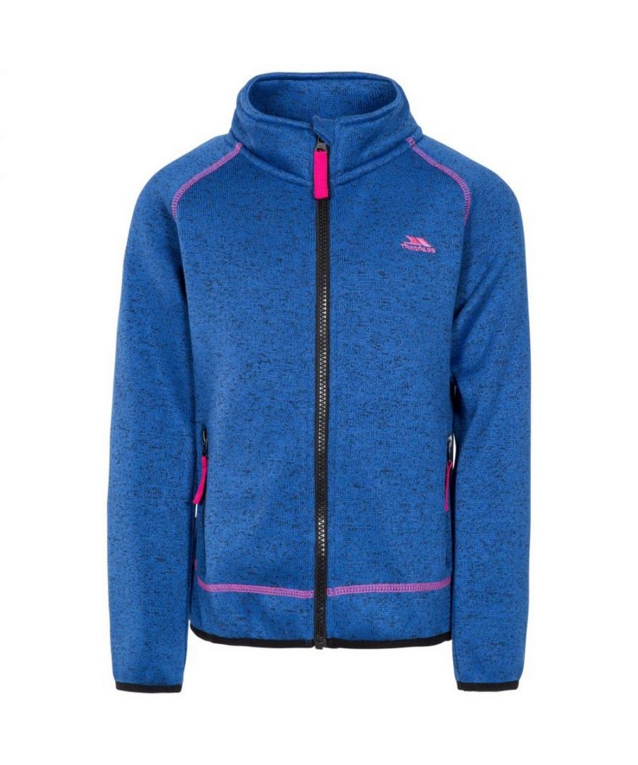 Image for Trespass Childrens/Kids Thankful Fleece Jacket (Blue Moon Marl)
