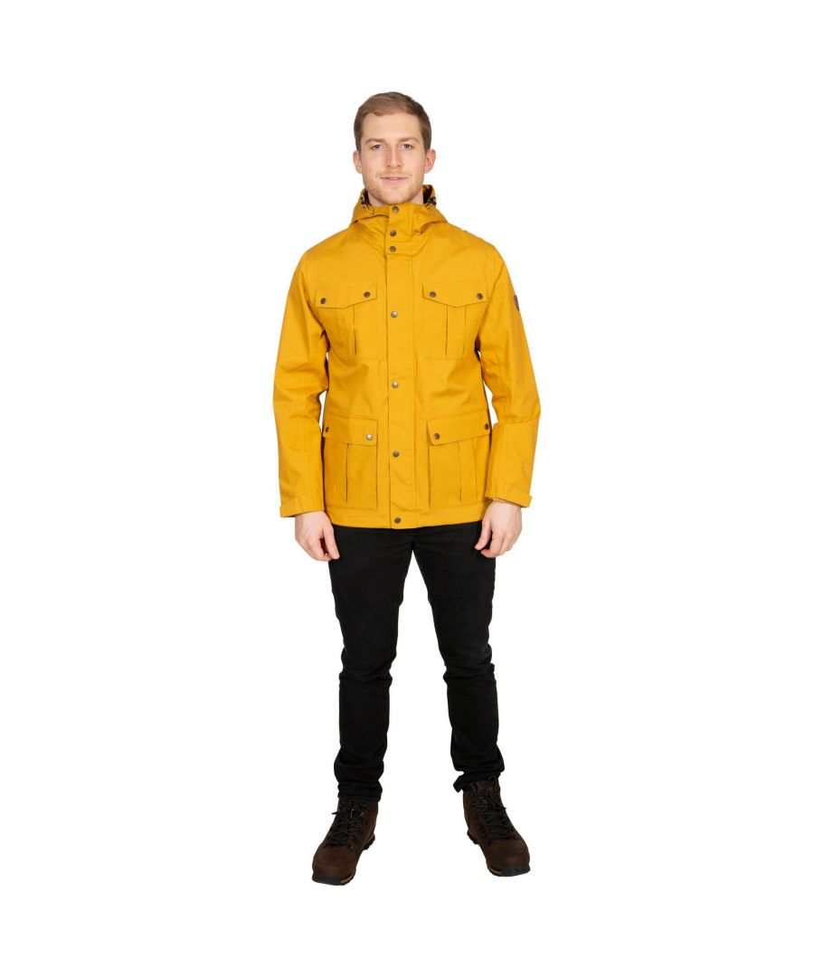 Image for Trespass Mens Raharra Waterproof Jacket (Maize Yellow)