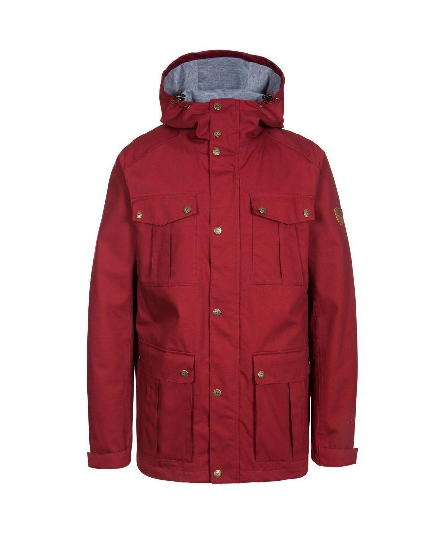 Image for Trespass Mens Raharra Waterproof Jacket (Merlot)