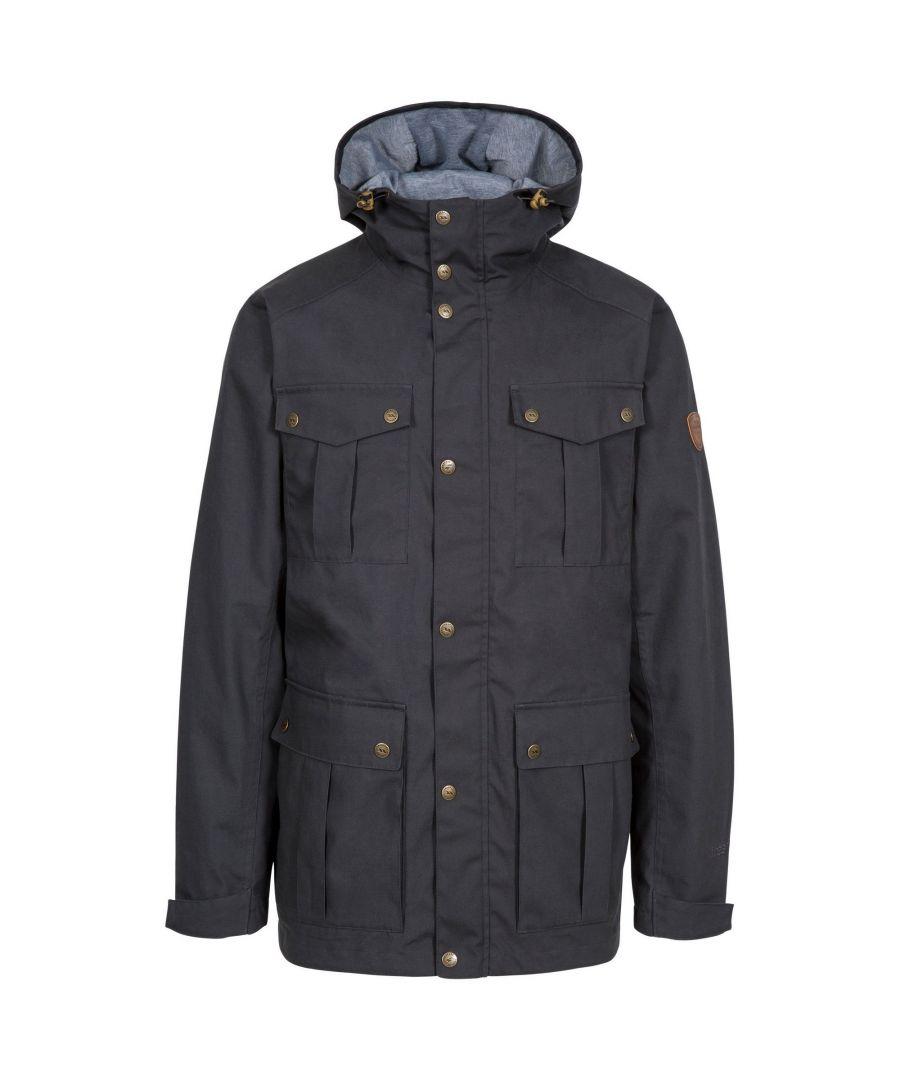 Image for Trespass Mens Raharra Waterproof Jacket (Dark Grey)