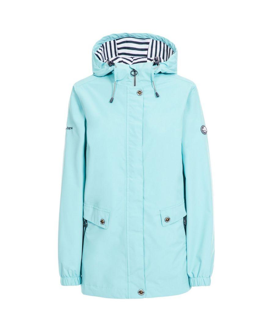 Image for Trespass Womens/Ladies Flourish Waterproof Jacket (Aqua Blue)