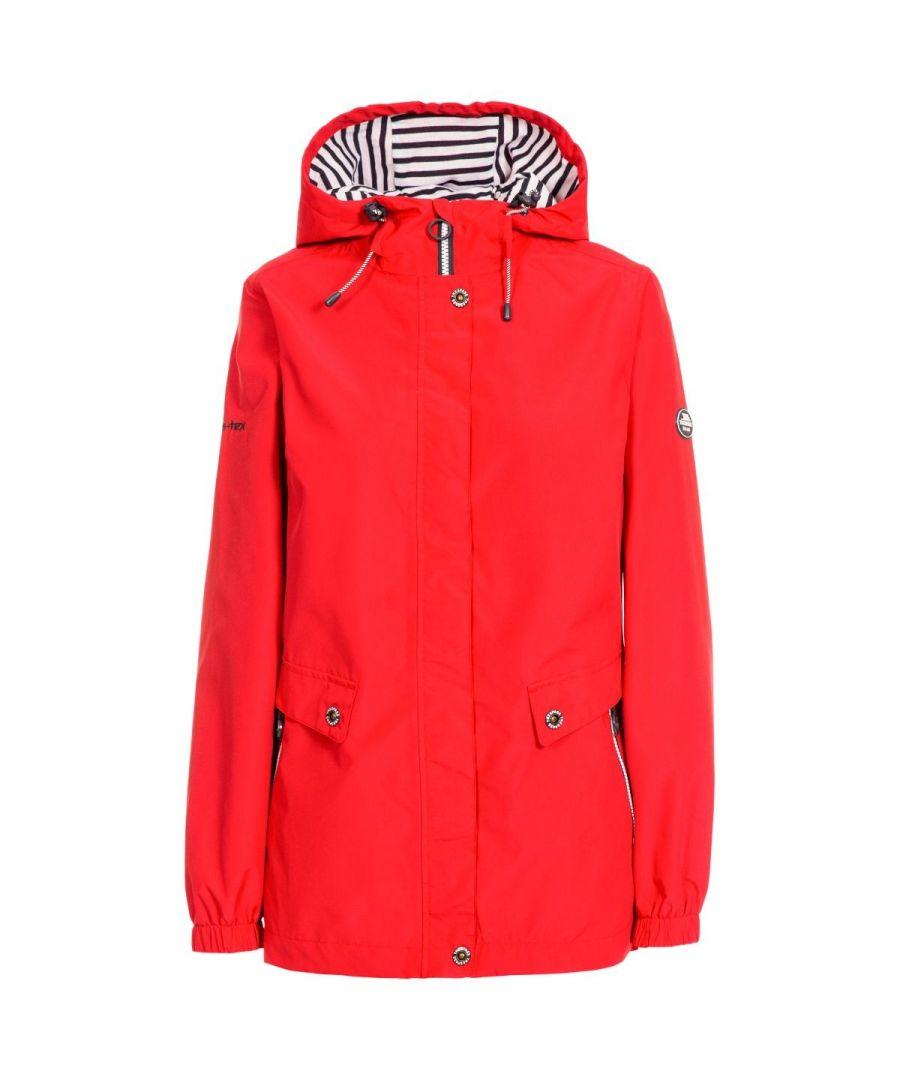 Image for Trespass Womens/Ladies Flourish Waterproof Jacket (Hibiscus Red)