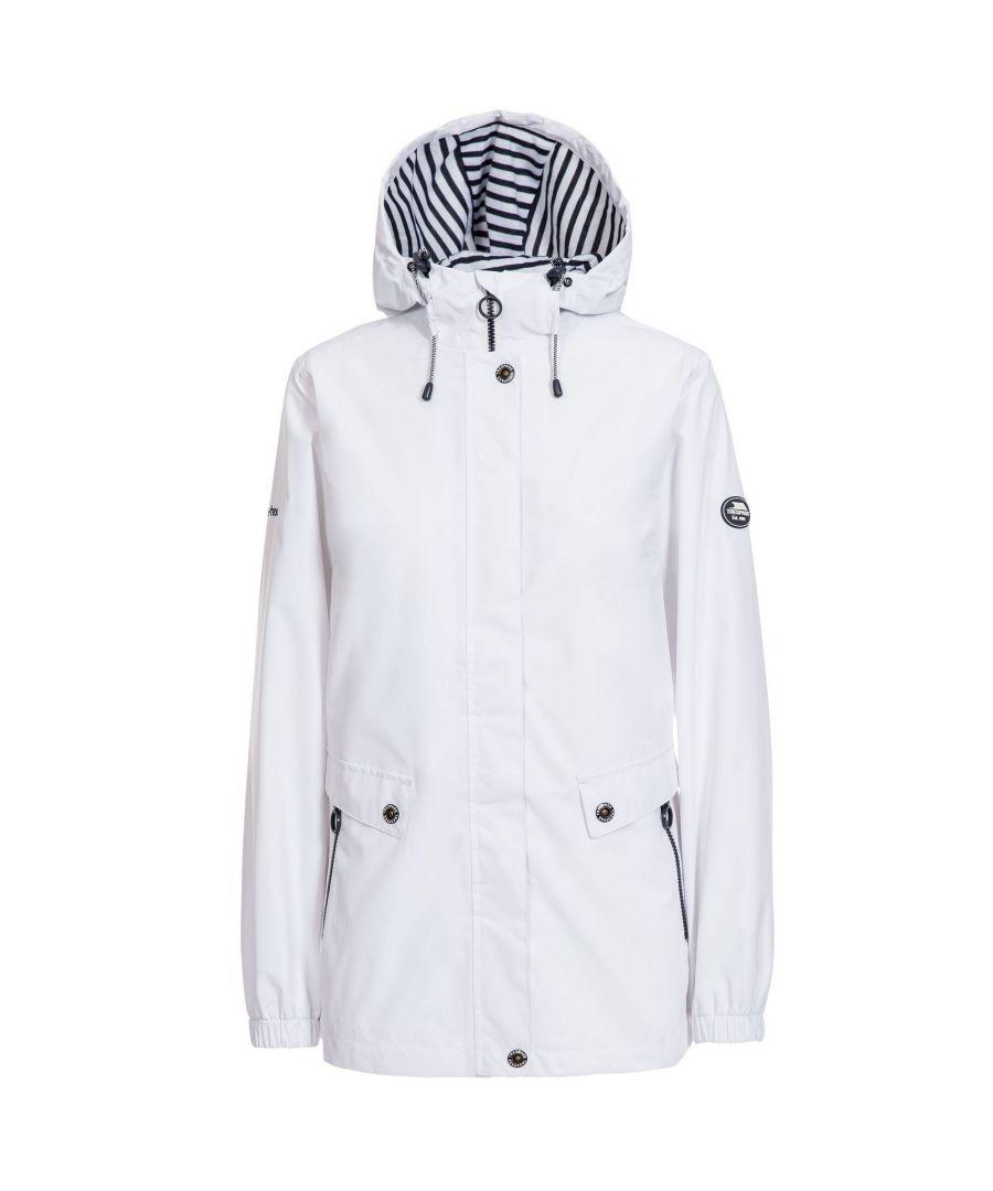 Image for Trespass Womens/Ladies Flourish Waterproof Jacket (White)