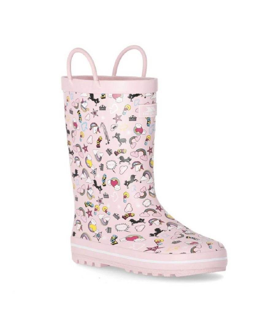 Image for Trespass Childrens/Kids Starryton Wellington Boots (Pink)