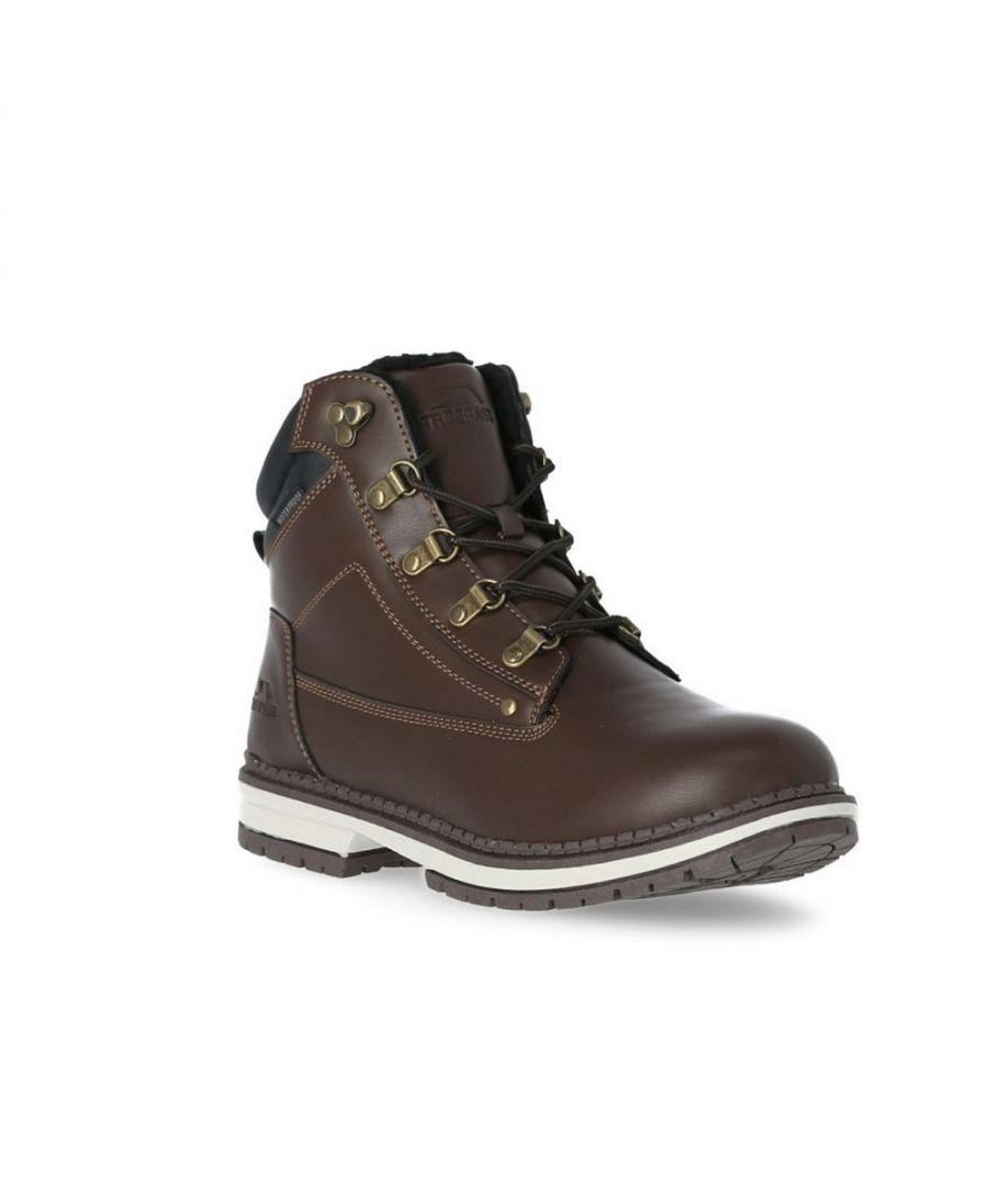 Image for Trespass Mens Robsen Ankle Boots (Dark Brown)
