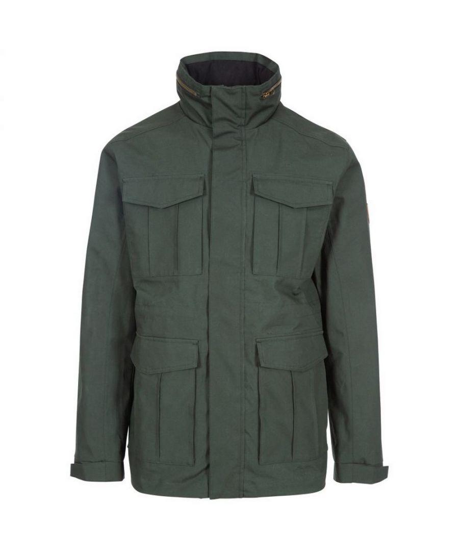 Image for Trespass Mens Rainthan Waterproof Jacket (Olive)