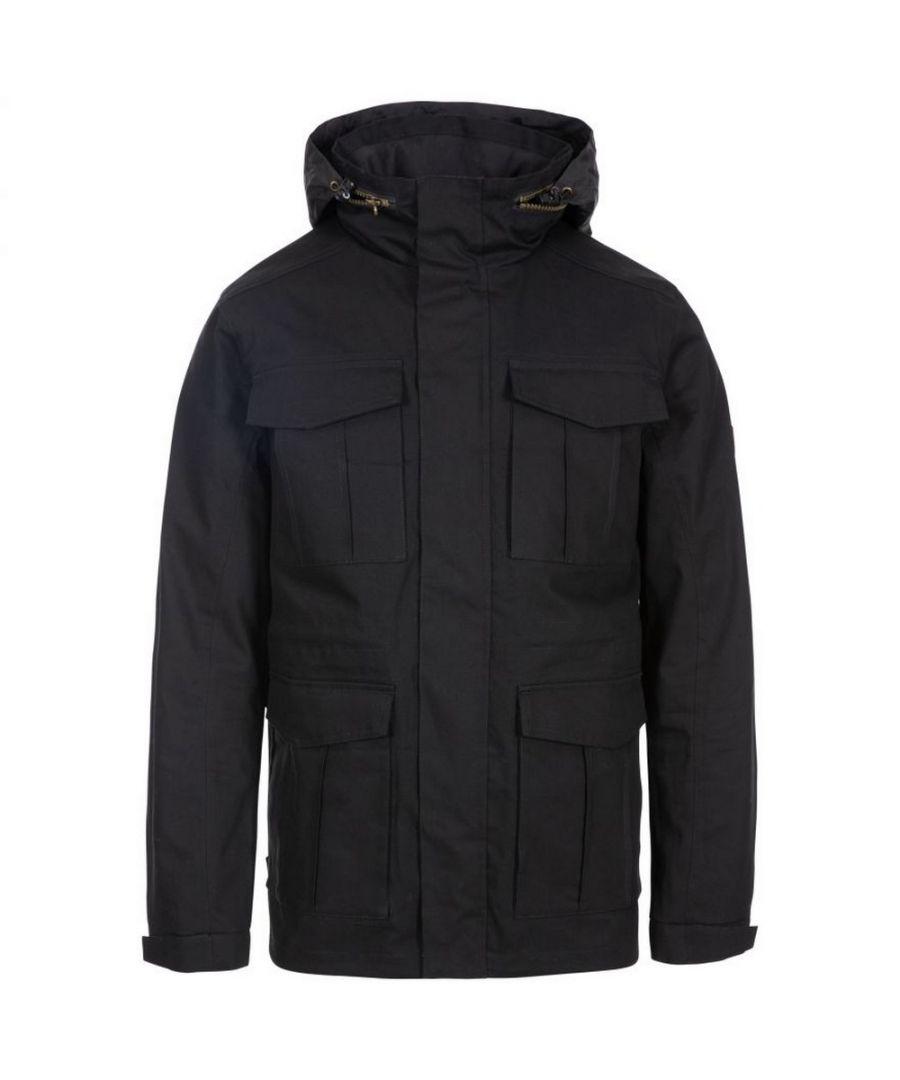 Image for Trespass Mens Rainthan Waterproof Jacket (Black)