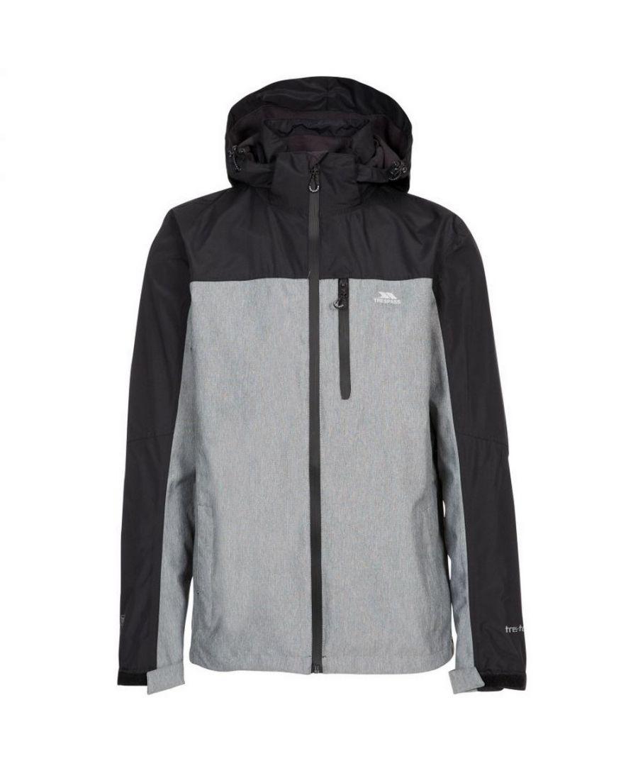 Image for Trespass Mens Zakham Waterproof Long-Sleeved Waterproof Jacket (Black)