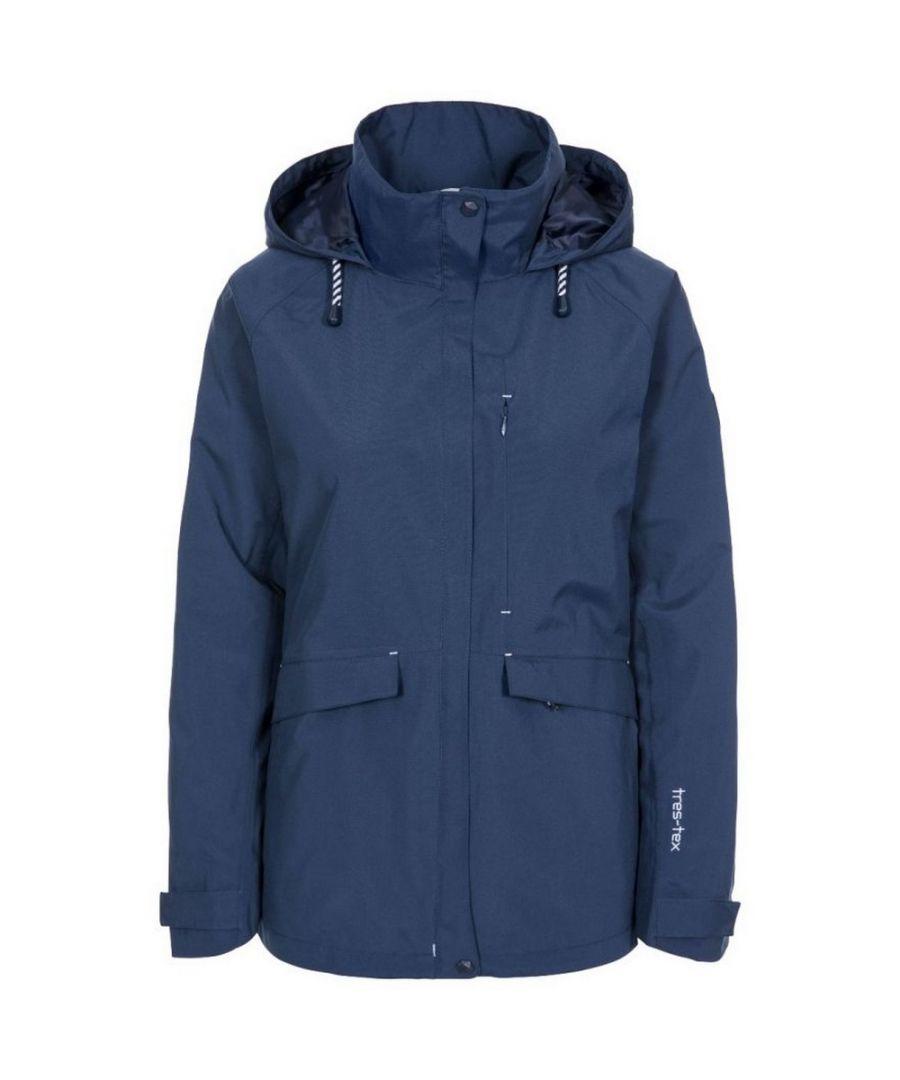Image for Trespass Womens/Ladies Voyage Waterproof Long-Sleeved Jacket (Navy)