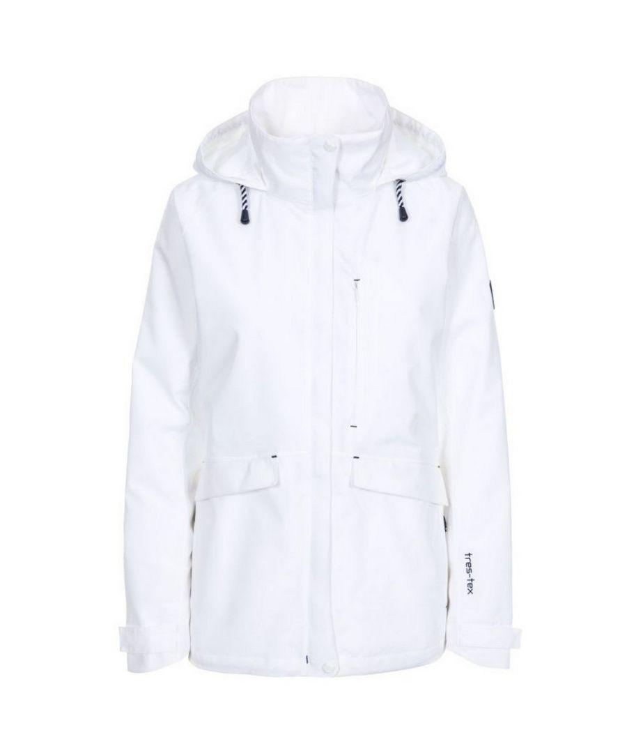 Image for Trespass Womens/Ladies Voyage Waterproof Long-Sleeved Waterproof Jacket (White)