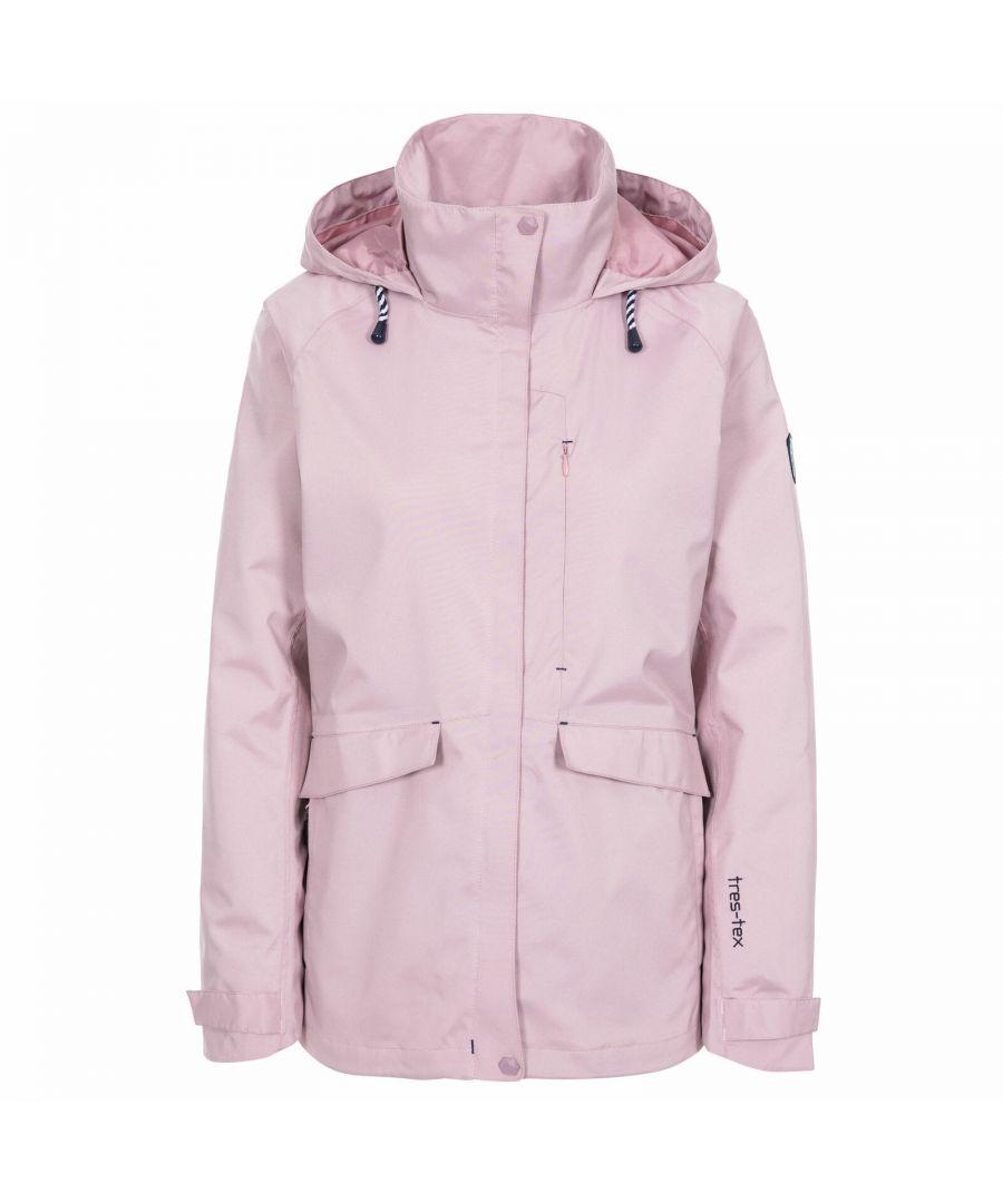 Image for Trespass Womens/Ladies Voyage Waterproof Long-Sleeved Waterproof Jacket (Lavender Purple)
