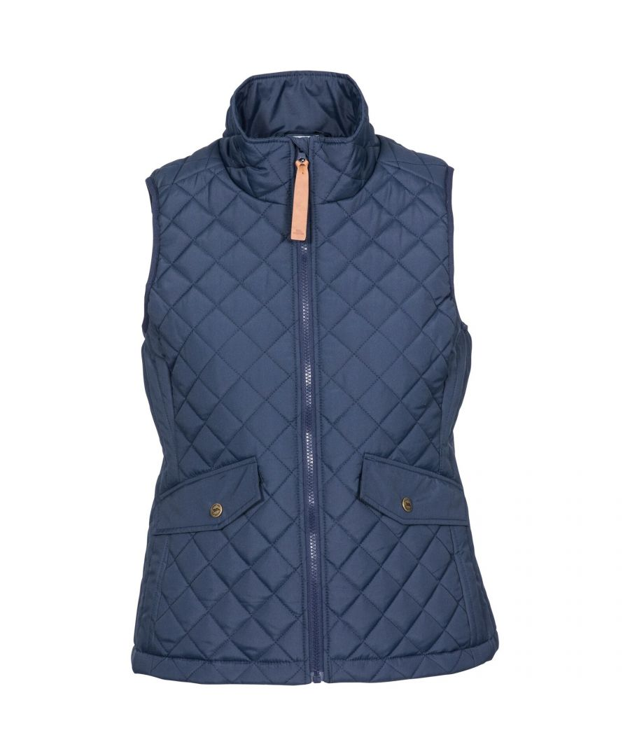 Image for Trespass Womens/Ladies Larisa Quilted Gilet (Navy)