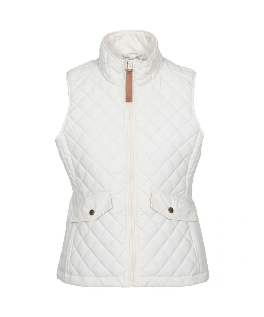 Image for Trespass Womens/Ladies Larisa Quilted Gilet (Ghost White)