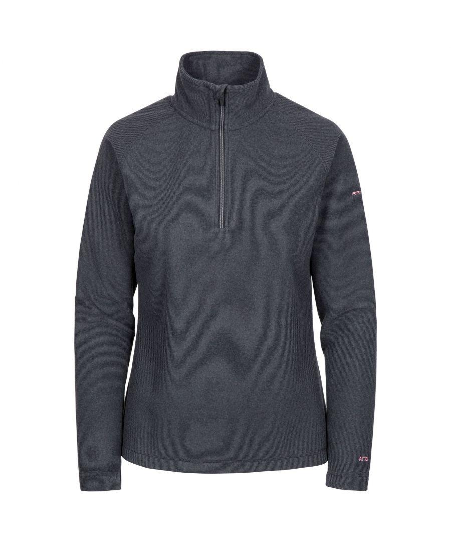 Image for Trespass Womens/Ladies Meadows Fleece Top (Charcoal Grey)