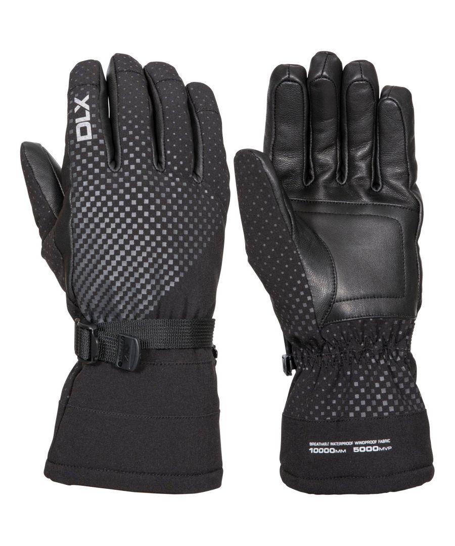 Image for Trespass Unisex Adult Alazzo DLX Leather Ski Gloves (Black)