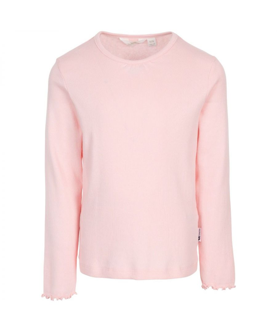 Image for Trespass Girls Content Long-Sleeved T-Shirt (Candyfloss Pink)