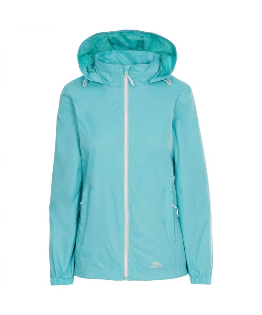 Image for Trespass Womens/Ladies Sabrina Waterproof Jacket (Aqua Blue)
