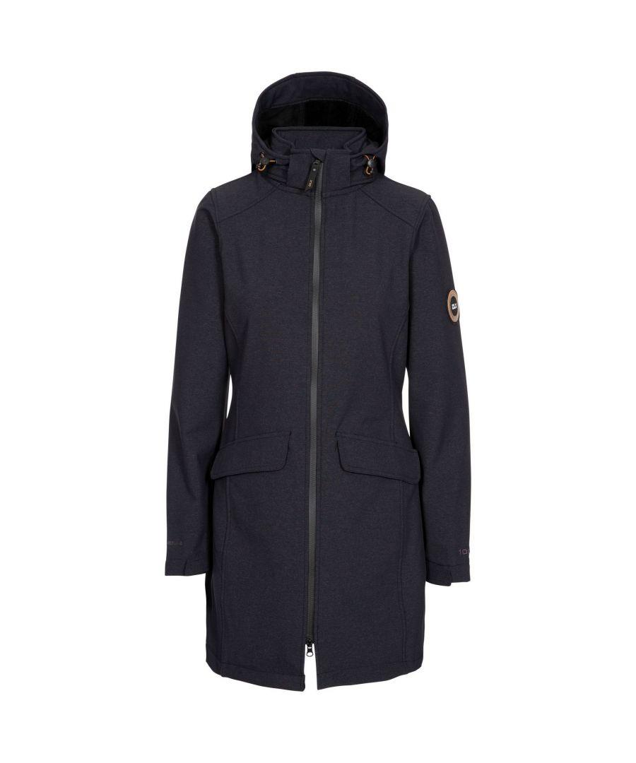 Image for Trespass Womens/Ladies Maria Soft Shell Jacket (Black Marl)