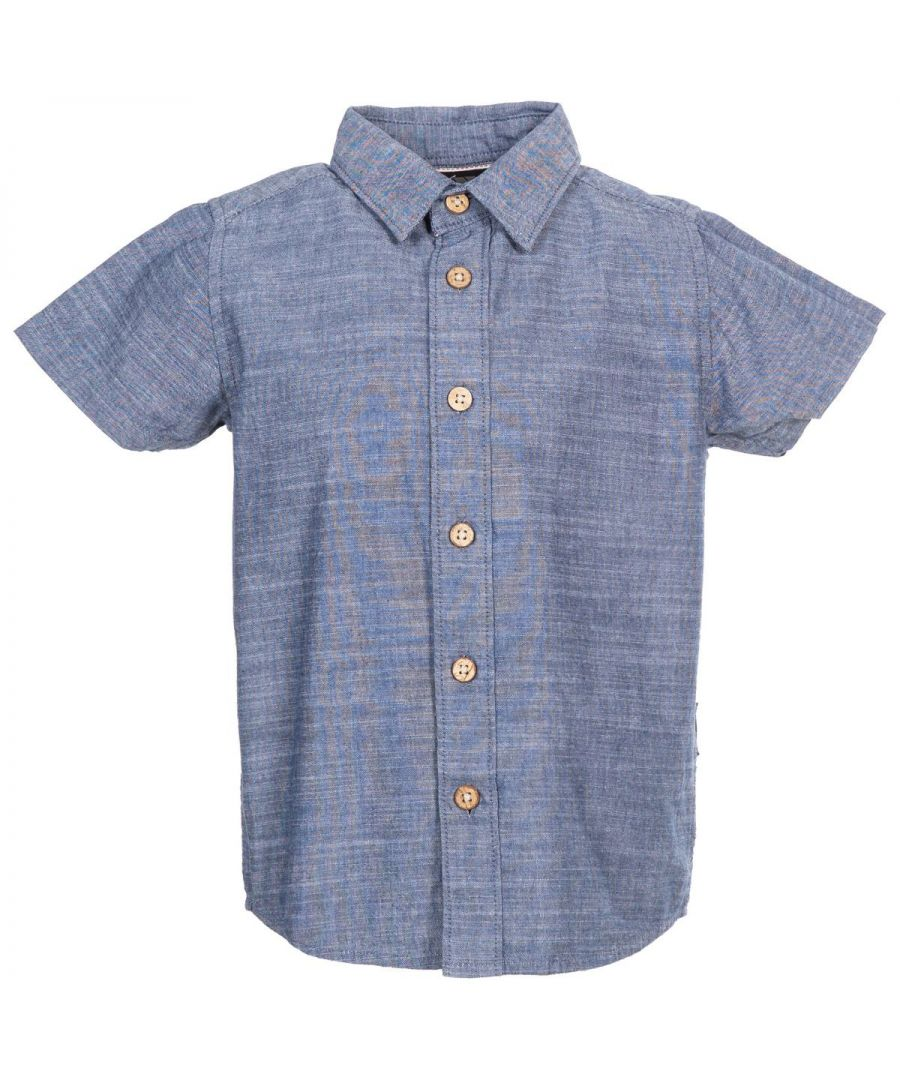 Image for Trespass Boys Exempt Short-Sleeved Shirt (Navy)