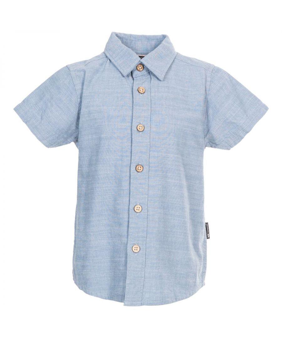 Image for Trespass Boys Exempt Short-Sleeved Shirt (Denim)