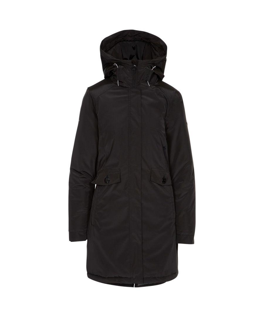 Image for Trespass Womens/Ladies Carolina Waterproof Jacket (Black)