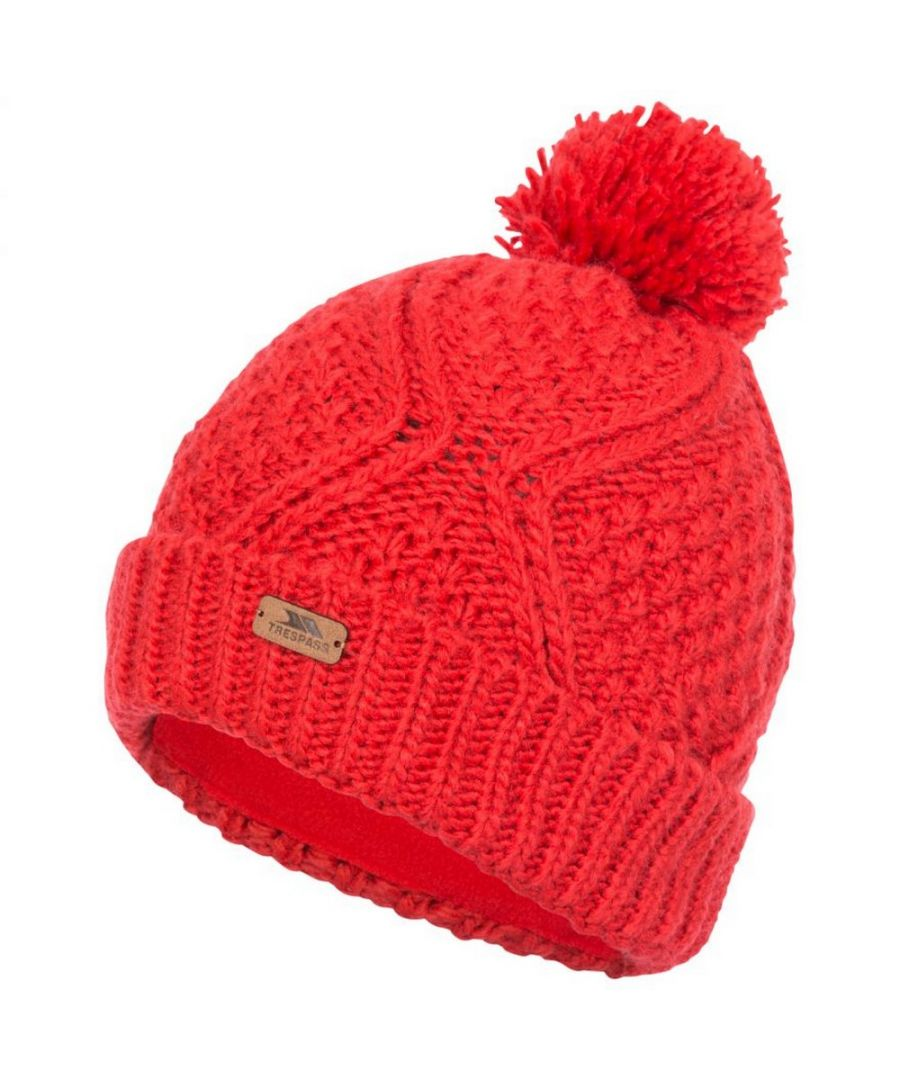 Image for Trespass Womens/Ladies Zyra Knitted Beanie (Hibiscus Red)