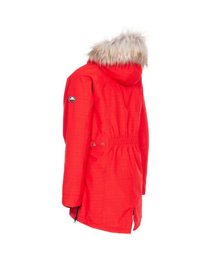 Image for Trespass Womens/Ladies Caption Waterproof Parka (Red)