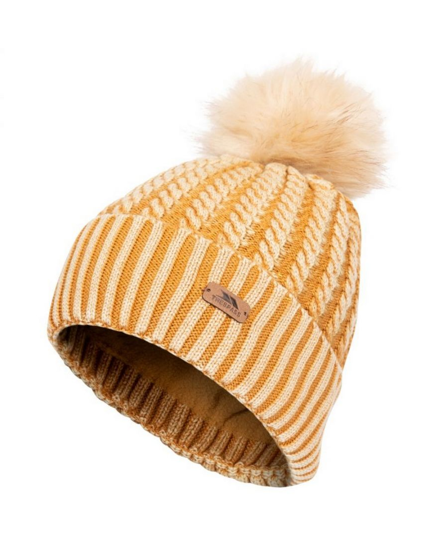 Image for Trespass Womens/Ladies Faded Knitted Hat (Sandstone)