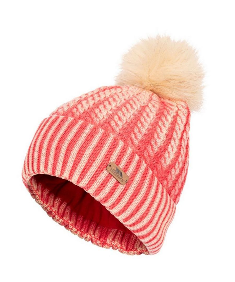 Image for Trespass Womens/Ladies Faded Knitted Hat (Hibiscus Red)