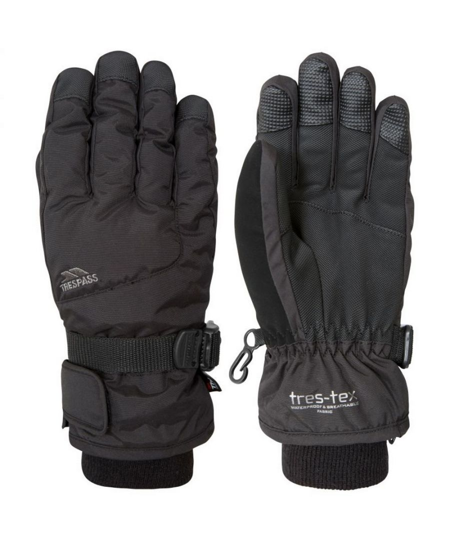 Image for Trespass Childrens/Kids Ergon II Ski Gloves (Black)