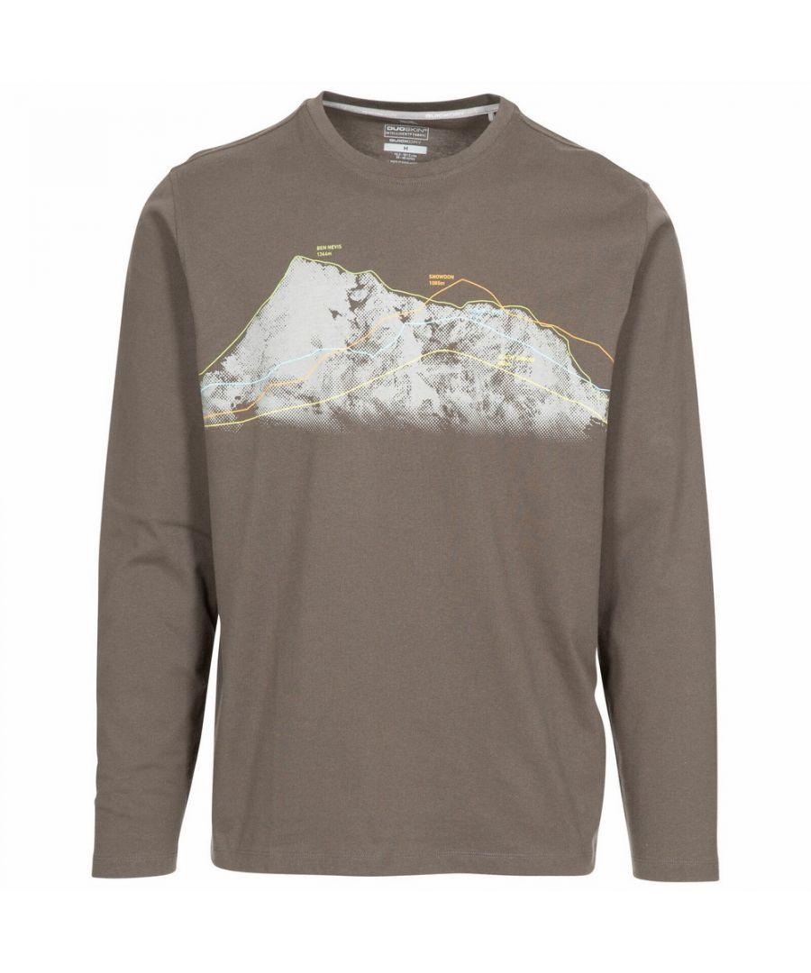 Image for Trespass Mens Wrenburyton Long-Sleeved T-Shirt (Khaki)