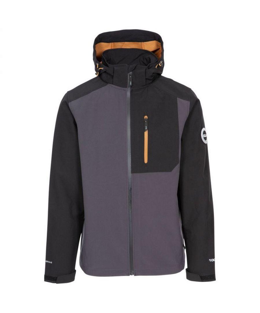 Image for Trespass Mens Lutz Softshell Waterproof Jacket (Dark Grey)