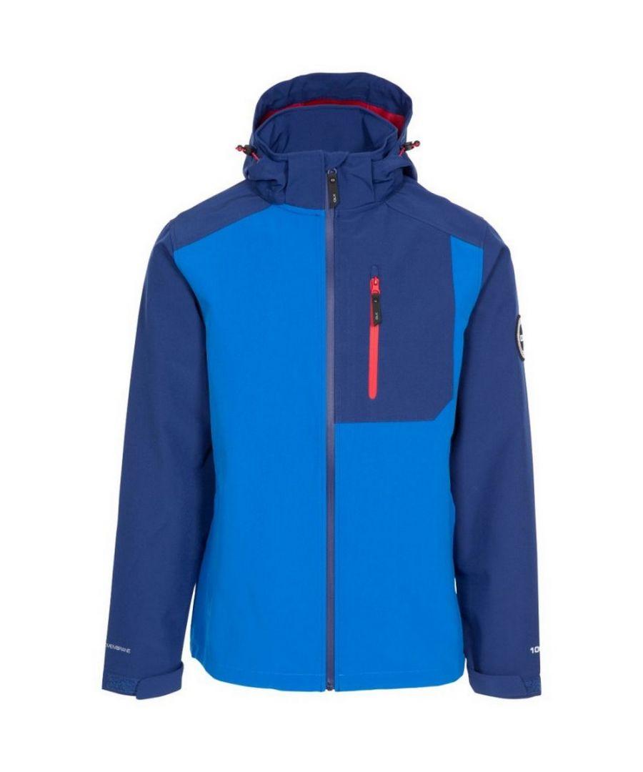 Image for Trespass Mens Lutz Softshell Waterproof Jacket (Blue)