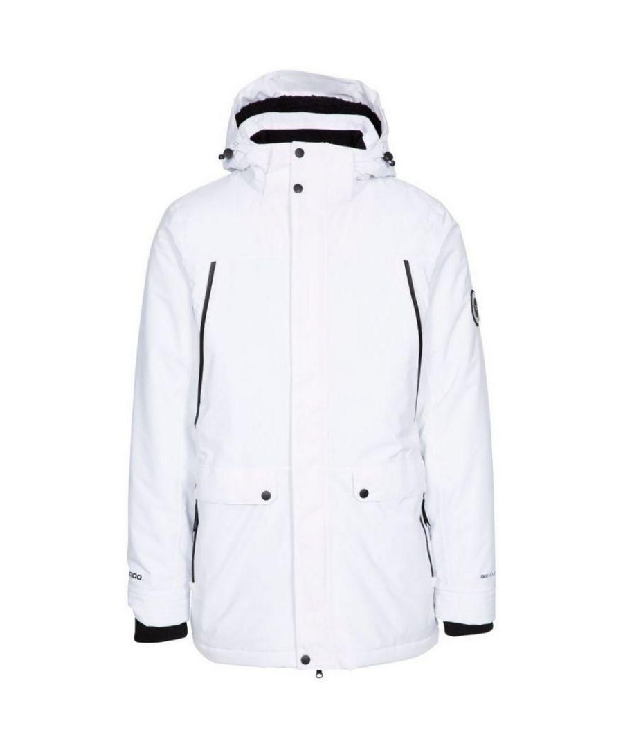 Image for Trespass Mens Harris Waterproof Jacket (White)