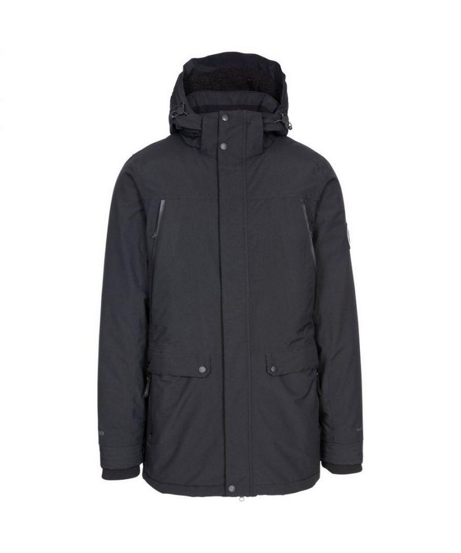 Image for Trespass Mens Harris Waterproof Jacket (Black)