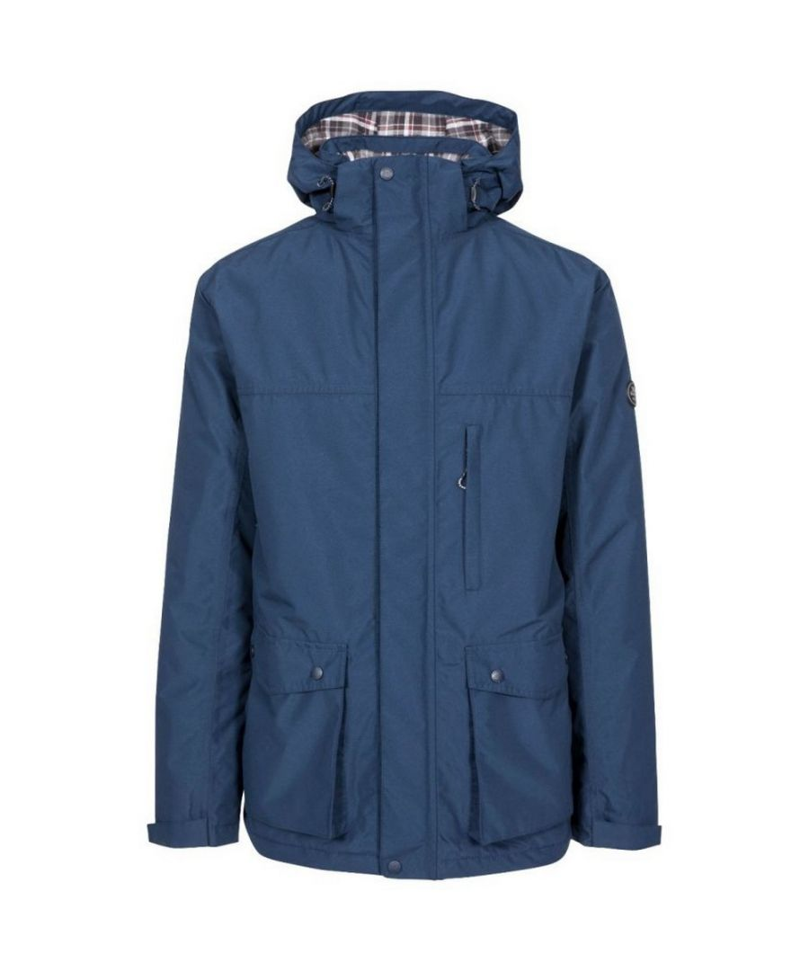 Image for Trespass Mens Vauxelly Waterproof Jacket (Navy)