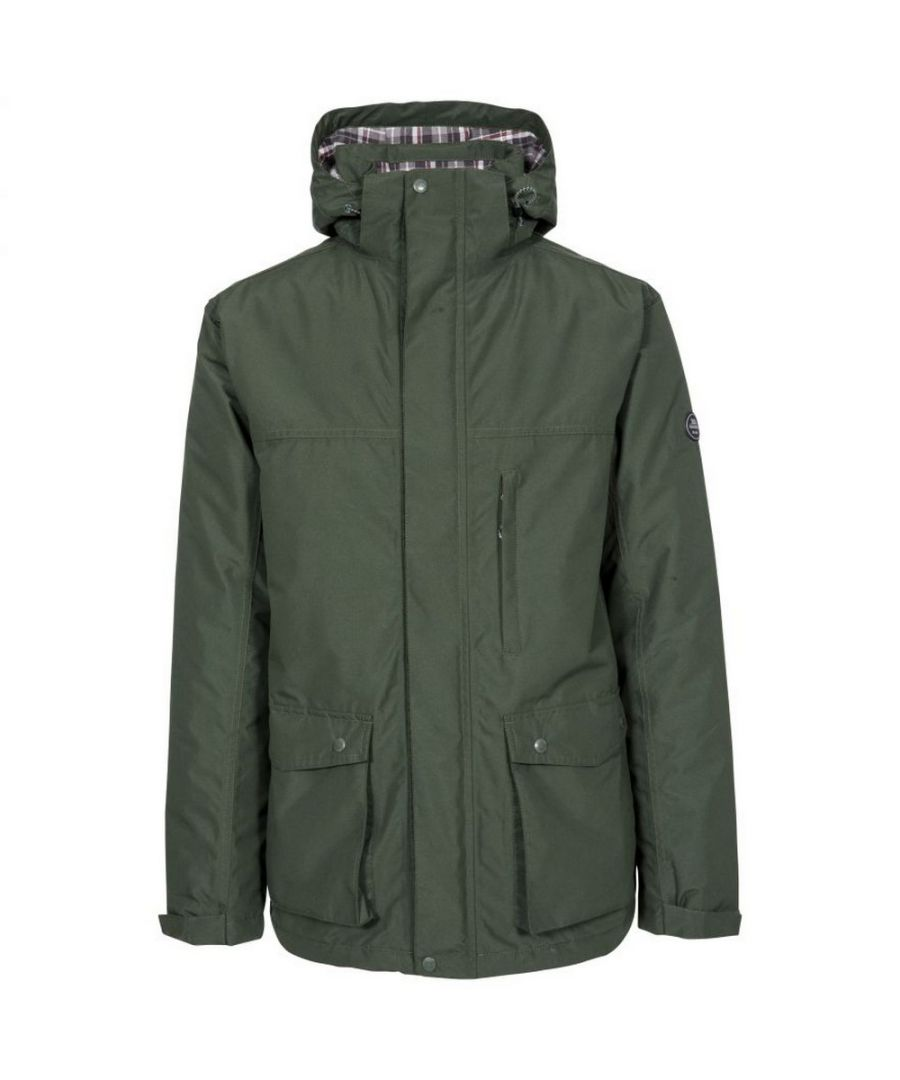 Image for Trespass Mens Vauxelly Waterproof Jacket (Olive)