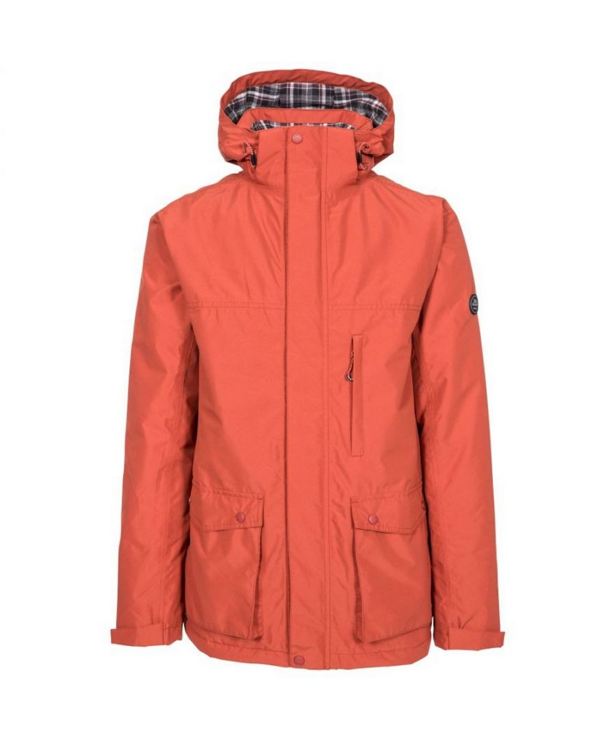 Image for Trespass Mens Vauxelly Waterproof Jacket (Spice Red)