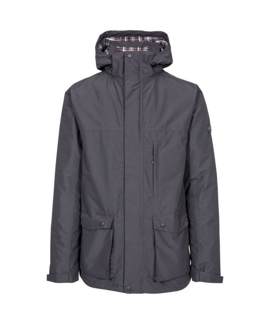 Image for Trespass Mens Vauxelly Waterproof Jacket (Dark Grey)