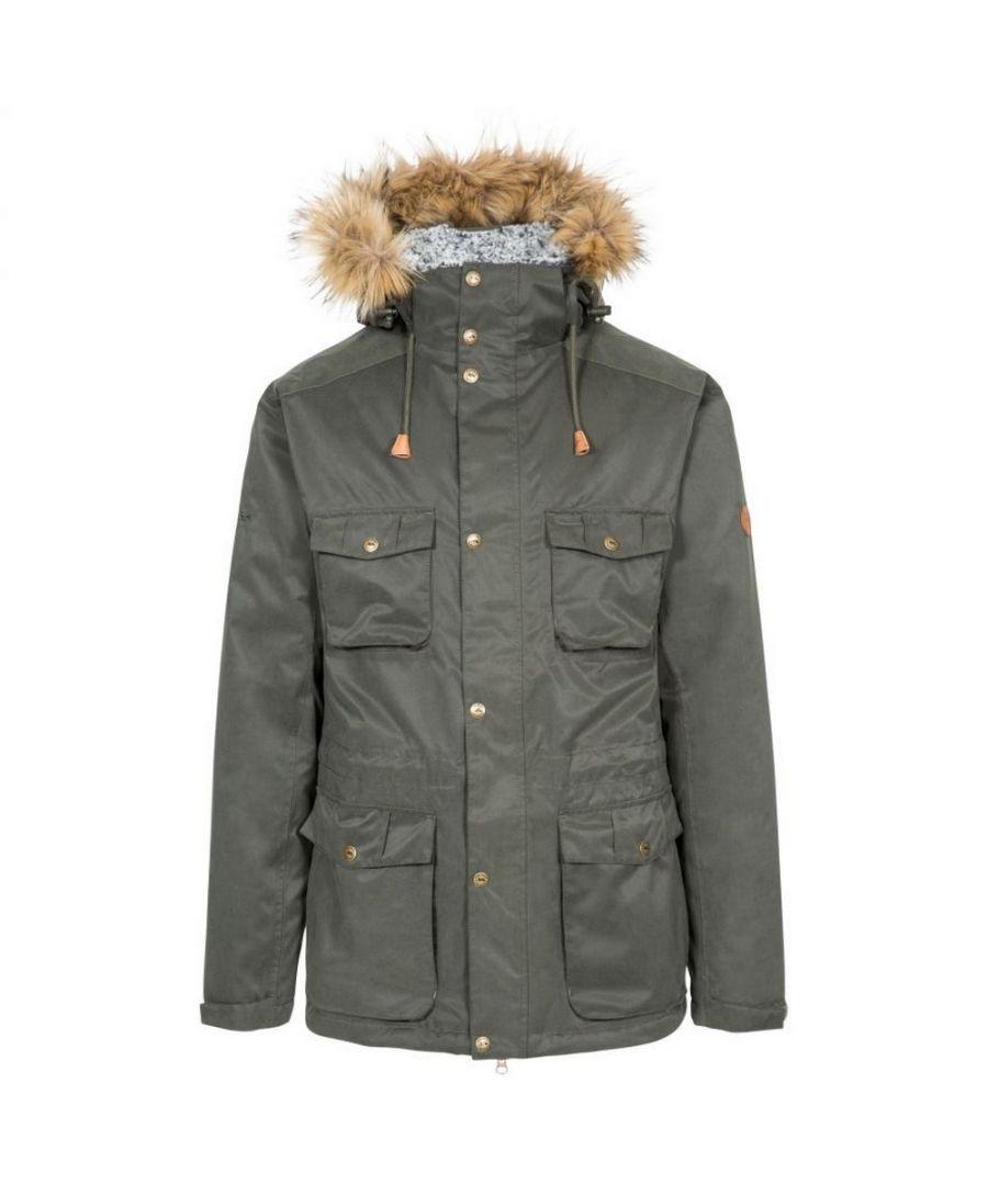Image for Trespass Mens Quebeckford Waterproof Jacket (Olive)
