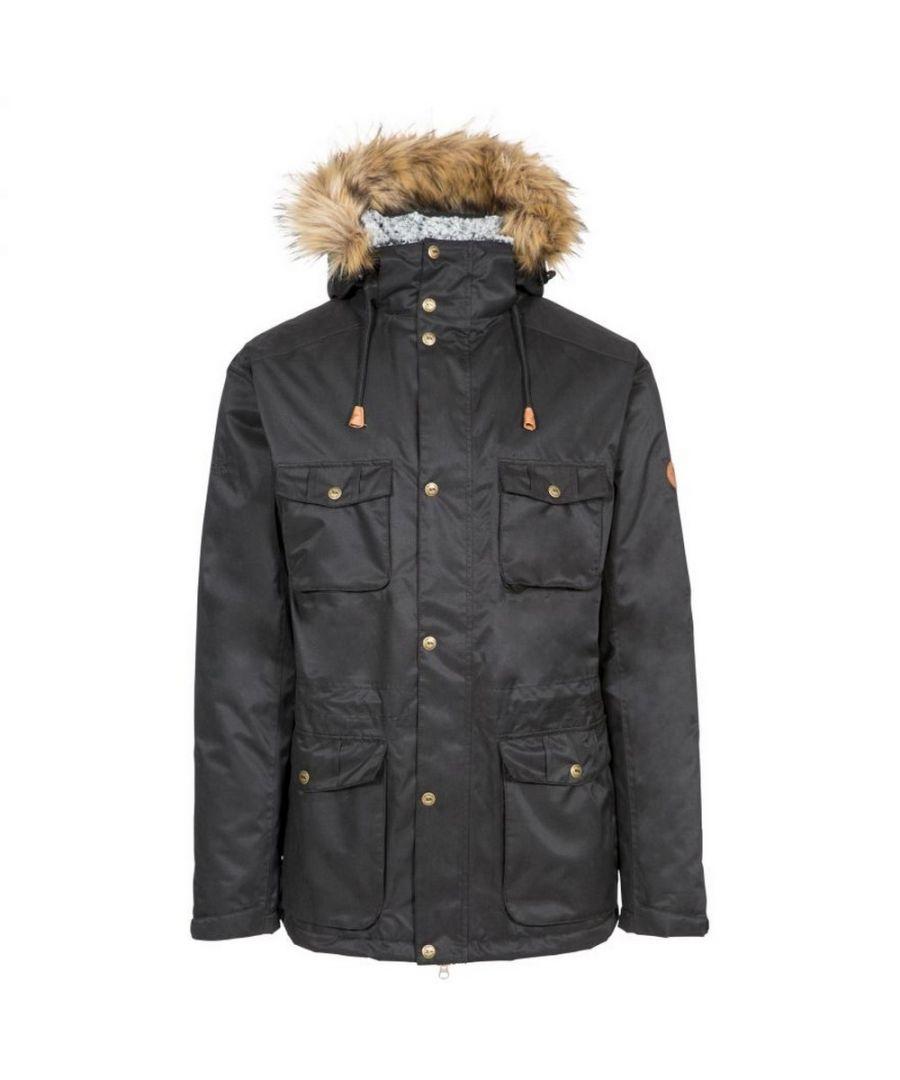 Image for Trespass Mens Quebeckford Waterproof Jacket (Black)