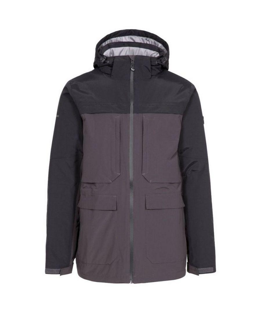 Image for Trespass Mens Heathrack Waterproof Jacket (Dark Grey)