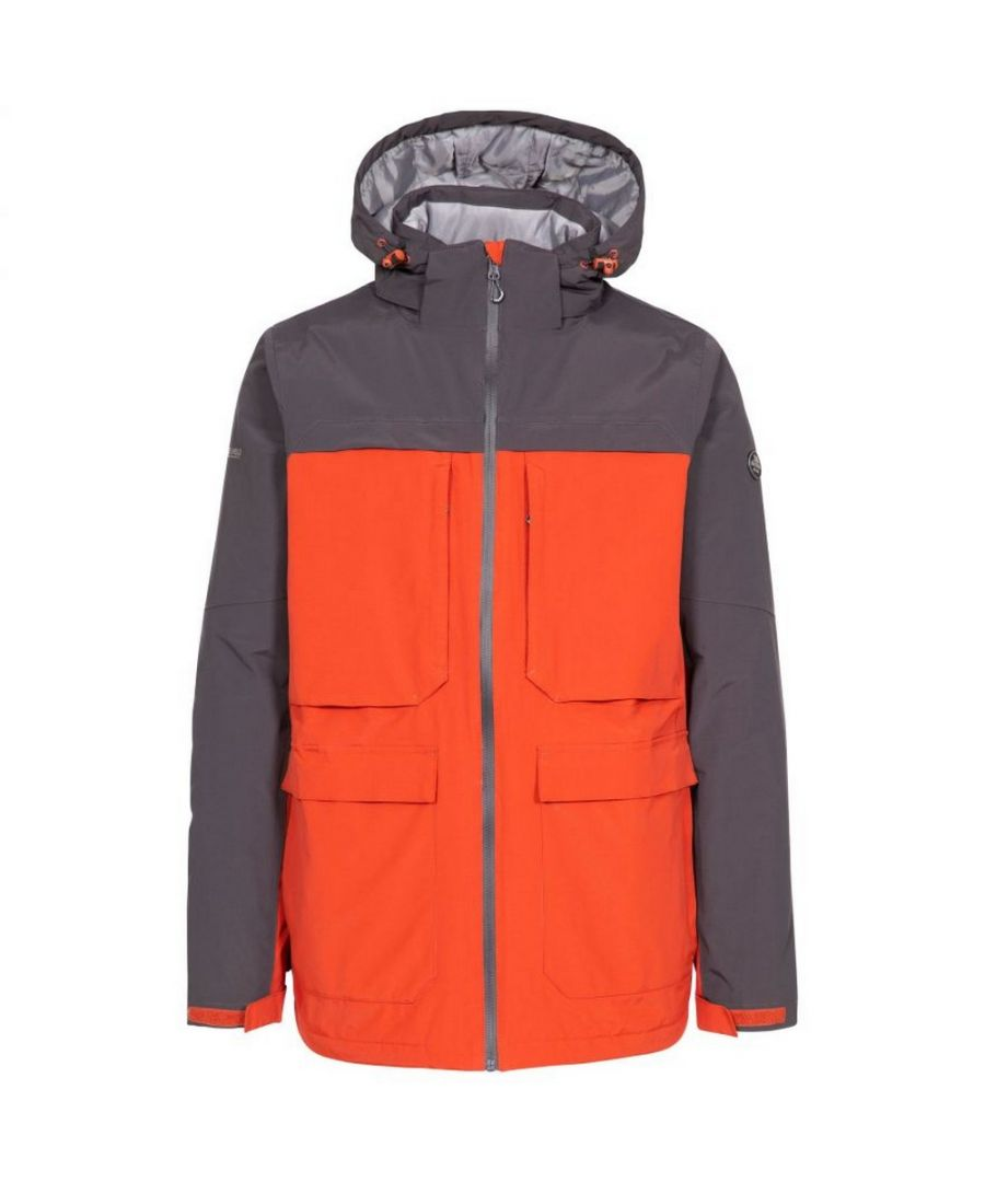 Image for Trespass Mens Heathrack Waterproof Jacket (Spice Red)